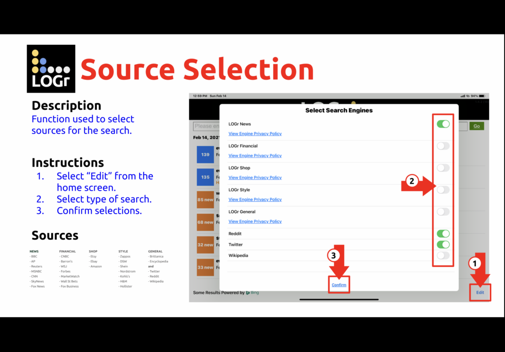 Select Your Sources