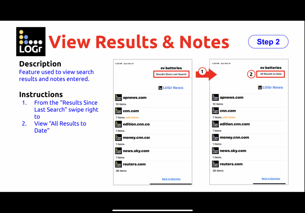 View Results & Notes