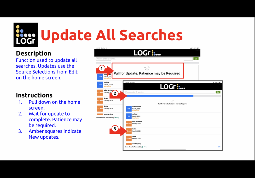 Update Searches