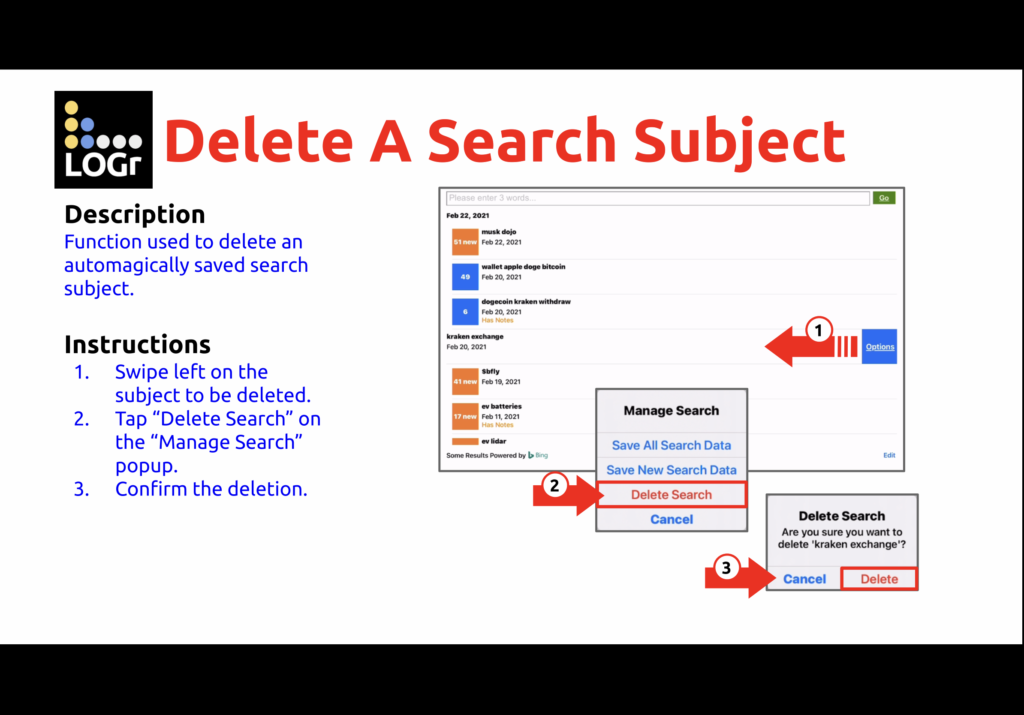 Clean up Searches