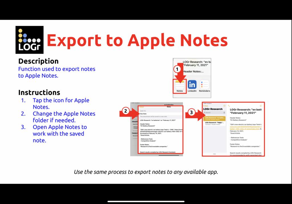 Apple Notes Example